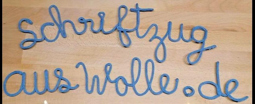 Schrift aus Wolle